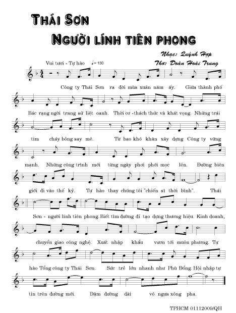 Thai son - Nguoi linh tien phong