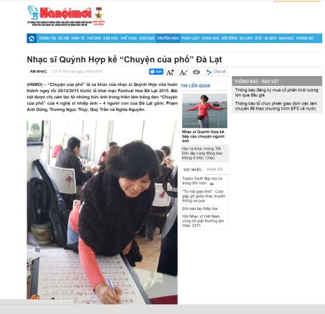 Chuyen cua pho - HNM